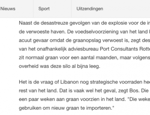 Interview havenexpert Daan Bos over explosie in Beiroet